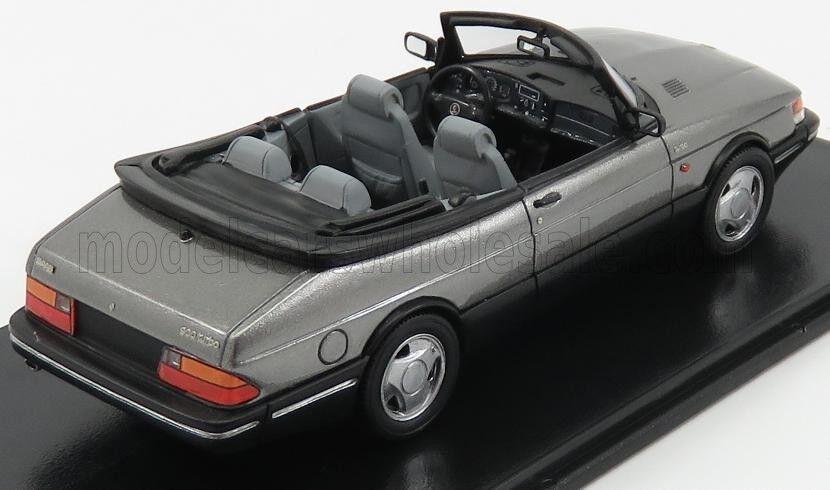 Wonderful modelcar SAAB 900 CONVERTIBLE 1987 - grigiometallic - 1/43 1/43 1/43 - ltd.ed. f37076