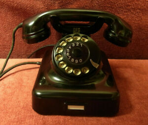 altes-Telefon-W48-antikes-Telephone-Bakelit-DFG-Fernsprecher-TOP