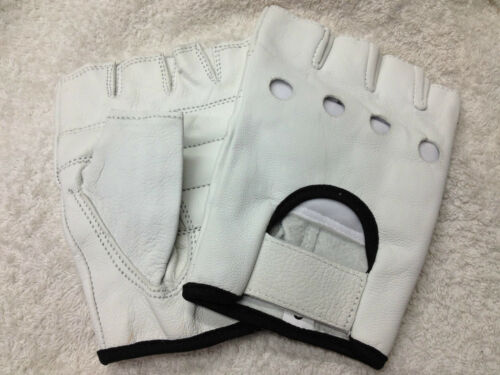 WEIGHT LIFTING PADDED LEATHER GLOVES FITNESS EXERCISE TRAINING CYCLING GYM MESH