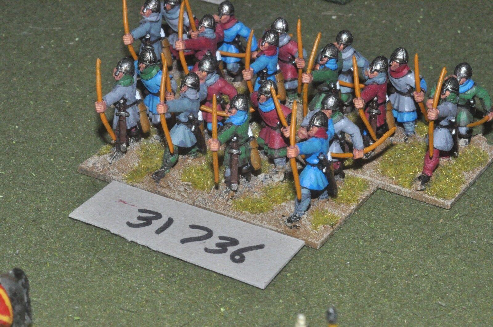 25mm medieval   crusader - archers 20 figures - inf (31736)