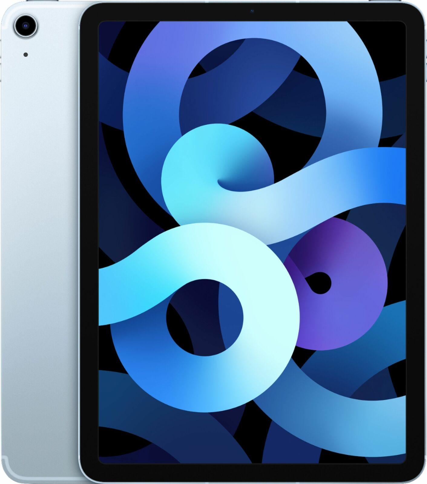 Apple iPad Air 4 64GB Sky Blue Wi-Fi MYFQ2LL/A (Latest Model). Buy it now for 489.00