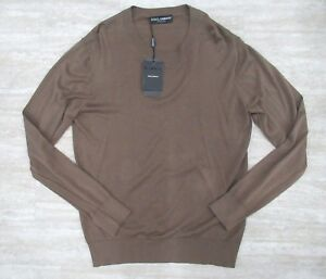 En Dolce Homme Pull Rond Taille amp; Col 52 Grand Marron Gabbana Coton Neuf It pwC18xpq