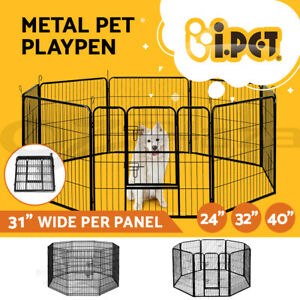 i-Pet-8-Panel-Pet-Dog-Playpen-Enclosure-Puppy-Exercise-Cage-Fence-24-034-32-034-40-034