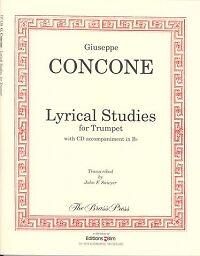 2019 Nouveau Style Concone Lyrique Studies (arr Sawyer) Trompette Livre Avec Mp3 Accompagnement-afficher Le Titre D'origine