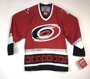 Image is loading Vintage-NHL-Carolina-Hurricanes-CCM-Embroidered-Red-Hockey- f37d40489
