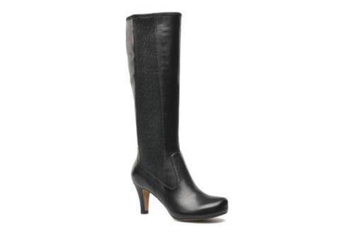 Rrp Nuevas botas Kansas 170 £ la cuero de largas para mujer Negro hasta Clarks rodilla qf7xwaqr
