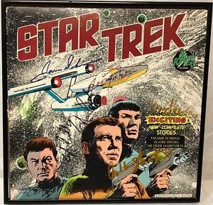 Star-Trek-TOS-7-SHATNER-NIMOY-KELLEY-DOOHAN-Cast-Signed-Vinyl-LP-w-CoA