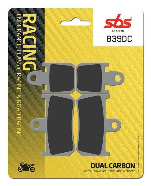 SBS Street Racing Dual Carbon Front Brake Pads 839DC