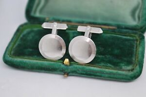Vintage-Sterling-Silver-cufflinks-with-an-Art-Deco-design-B801