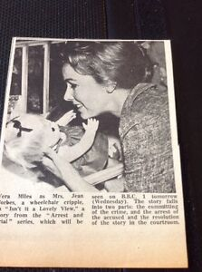 654 Ephemera 1966 Picture Vera Miles Isn039t It A Lovely View Bbc Series - Leicester, United Kingdom - 654 Ephemera 1966 Picture Vera Miles Isn039t It A Lovely View Bbc Series - Leicester, United Kingdom