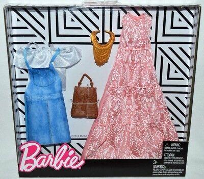2018 BARBIE CARE BEARS FASHION PACK ~ DRESS PURSE /& NECKLACE NEW