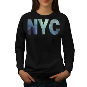 Wellcoda-NY-Photo-New-York-USA-Femme-Sweat-shirt-Etats-Unis-Casual-Pullover-Pull