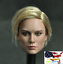 "1//6 female Head A Captain Marvel Brie Larson For 12/"" Figure Phicen hot toys❶USA❶"