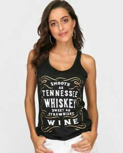 Women-Top-Tee-Shirt-Tank-Smooth-Tennessee-Whiskey-Strawberry-Plus-Size-S-3XL-NEW