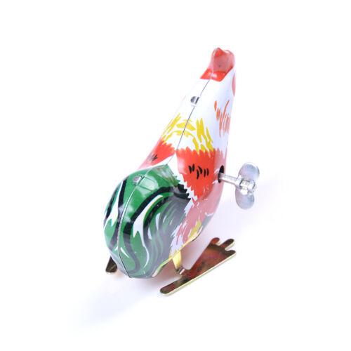 Vintage Wind Up Metall Hahn Mooster Tier Uhrwerk Zinn Spielzeug SammlerYEG