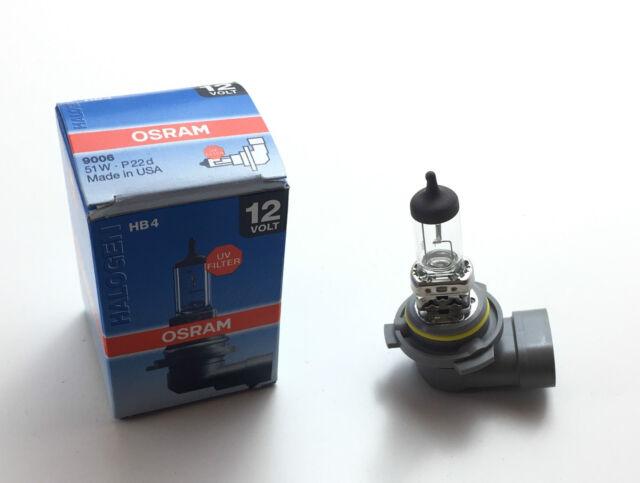 Osram HB4 Lamp 12V 51W P22d 51 Watt 12 Volt 9006 Ece R37