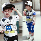 Hot Verkauft Mickey Mouse Kinder Jungen Mädchen Kurzärmelig Oberteile T-Shirt