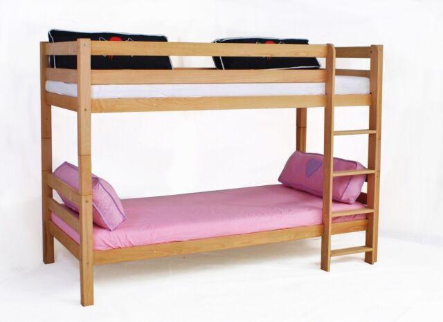 Tony Etagenbett Massiv Kiefer Natur Teibar in zwei Betten