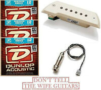 Emg Acs Ivory Acoustic Active Pickup Bajo Sexto /quinto (3 Acoustic String Sets)