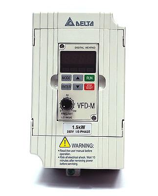 AC0~240V 0.1~400Hz 2HP 3φ Out Delta 1pc VFD-M AC motor Driver AC200~240V 1φ IN
