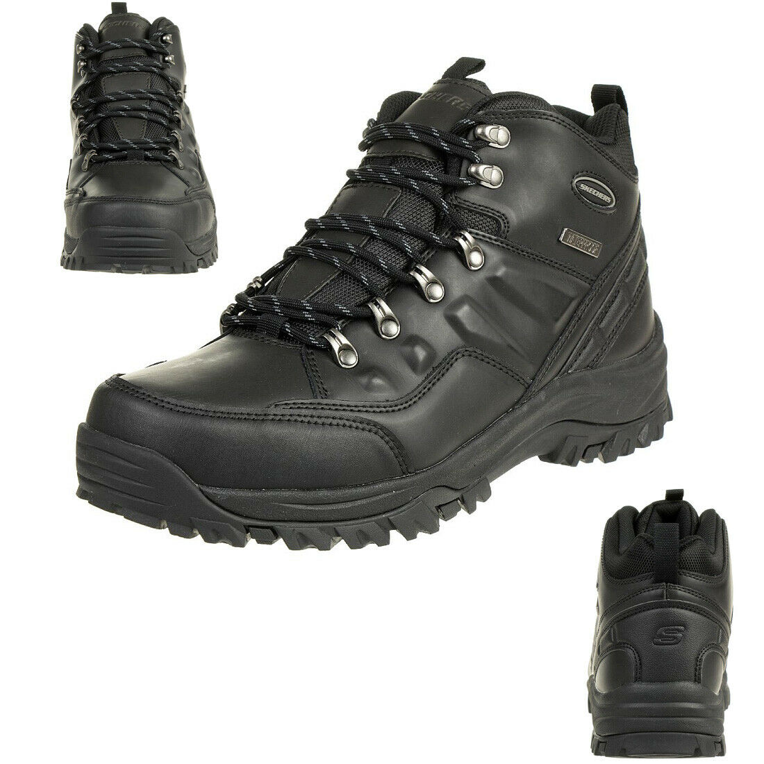 Skechers relment Traven botas outdoor Zapatos Cuero waterproof Relaxed Fit bbk