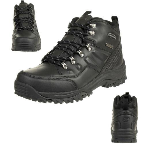 Skechers relment Traven botas outdoor Zapatos Cuero waterproof Relaxed Fit bbk