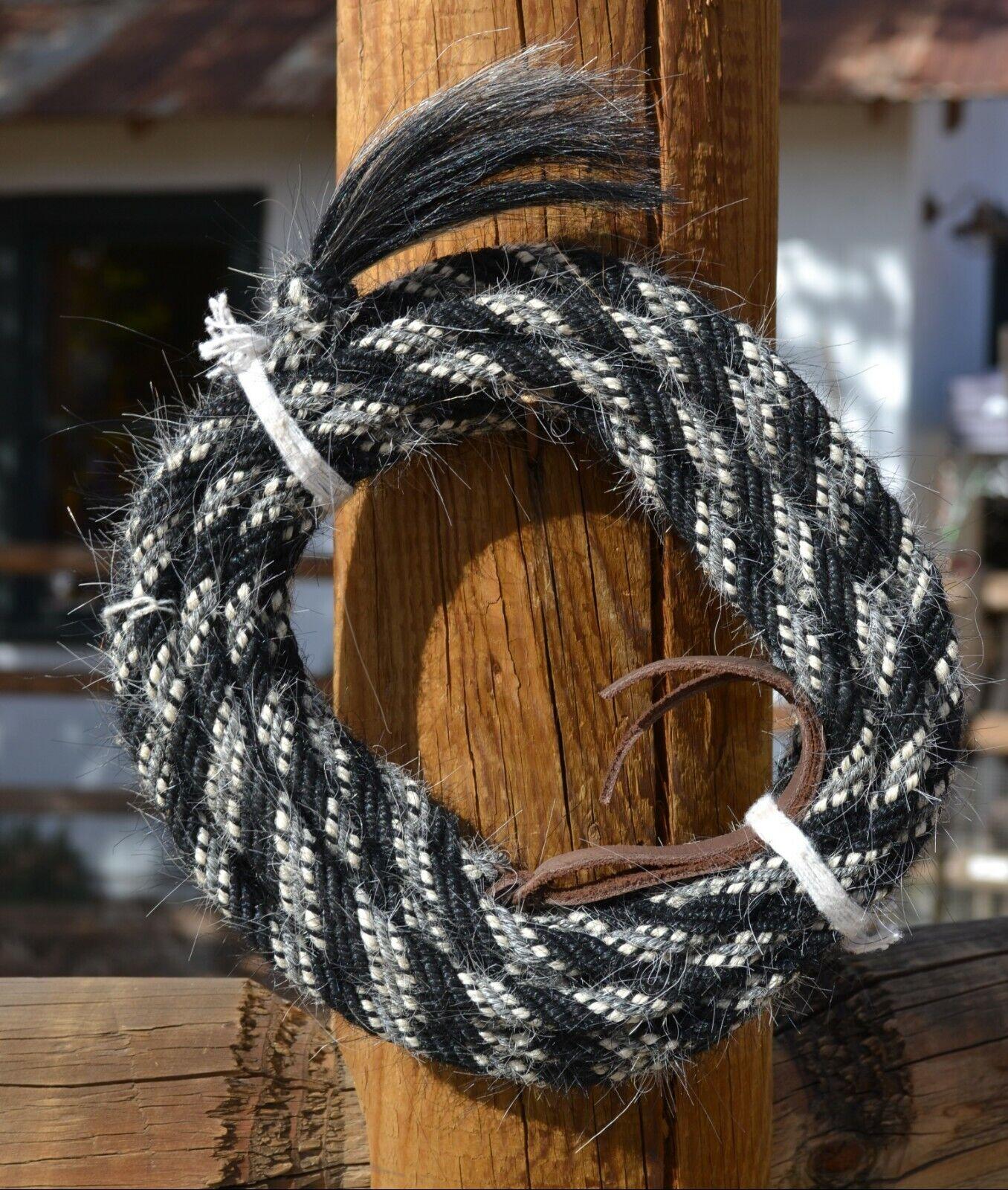 JOSE Ortiz 3 8  mohair angora Get Down Cuerda 6 Str 16' - Negro blancoo Y Negro gris