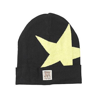 (p15) Finemente Lavorato A Maglia Berretto Freaky Testa Beanie Inverno Berretto Boyfriend Big Star + Logo-mostra Il Titolo Originale Evidente Effetto