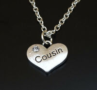 Cousin Necklace, Cousin Charm, Cousin Pendant, Cousin Jewelry, Cousin Gift