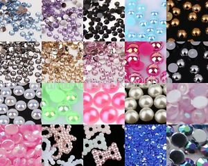 1000x-Half-Round-Bead-FlatBack-Pearl-Scrapbooking-Embellishment-Craft-5-6-7-8mm