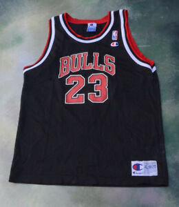 buy popular 11f8c dba02 Details about Champion NBA Chicago Bulls Michael Jordan Jersey #23 Size  Youth XL (18-20).