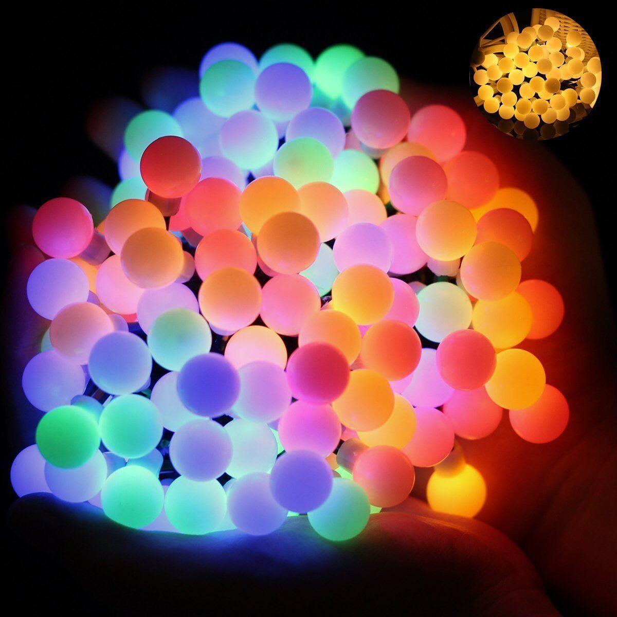 Wasserdicht LED Globe Lichterkette, 60 LED Lichterkette bunt, Innen und Außen    Shopping Online