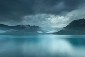 Lofoten-Islands-Norway-Twilight-Landscape-Photo-Mural-inch-Poster-36x54-inch