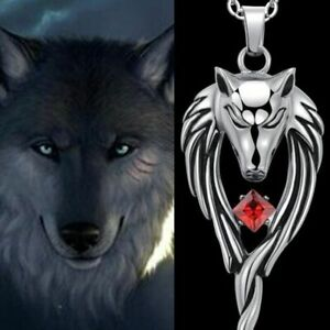 Jewelry-Man-Necklace-Stainless-Steel-Wolf-Head-Pendant-Black-Leather-Chain