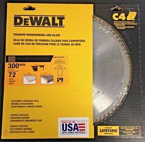 Details about Dewalt DW730072HG 300mm x 72 Teeth Thin Kerf Melamine  Woodworking Saw Blade USA
