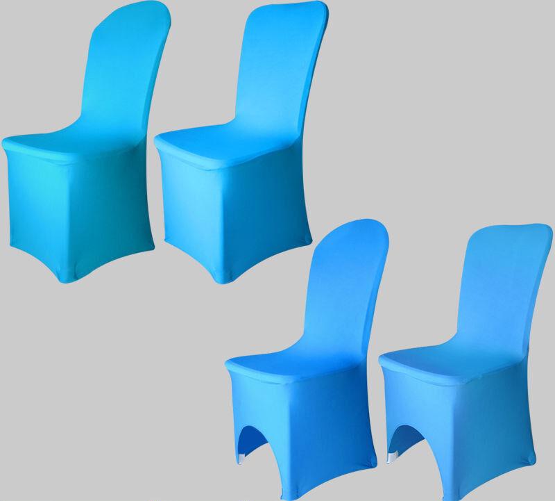 Aqua Blue-Chaise Stretch Spandex Lycra Mariage Banquet Anniversaire Fête Fête Fête b8deea