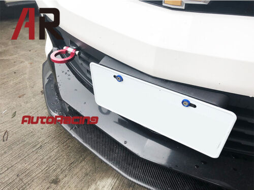 """Aluminum Forge Front Tow Hook Bar For 2016-2018 Chevy Camaro 3.6 SS /""""RED/"""""""