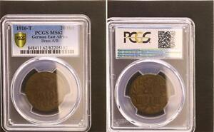 German East Africa 20 Heller 1916T J.725b Mint State PCGS MS62
