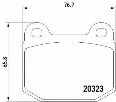 NEW MINTEX FRONT DISC BRAKE PADS SET MDB2703