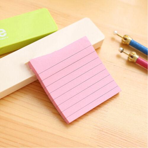 Notas adhesivas cuaderno Memo Pad marcador de papel Sticker Notepad papeler~GN