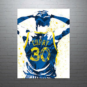 Stephen Curry Golden State Warriors 30 Jersey Poster FREE US SHIPPING