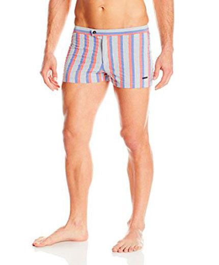 NWT PARKE & RONEN 32 Lancaster 2  swim trunks shorts  mongibelle stripe