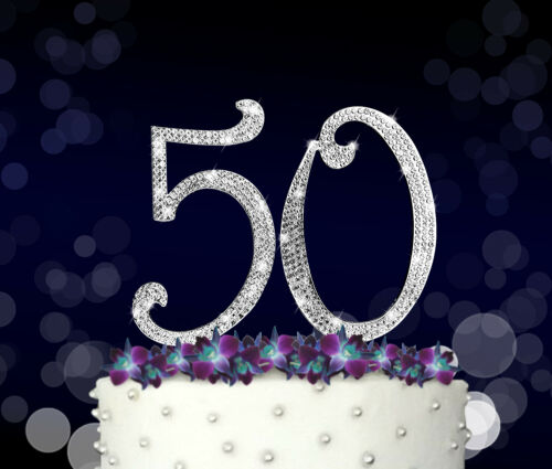 Rhinestone Crystal Cake Topper Silver Letters for all occasions Numbers