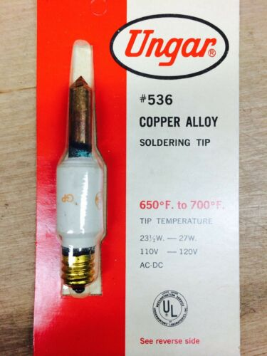 COPPER ALLOY SOLDERING TIP UNGAR #536 NN0464-2