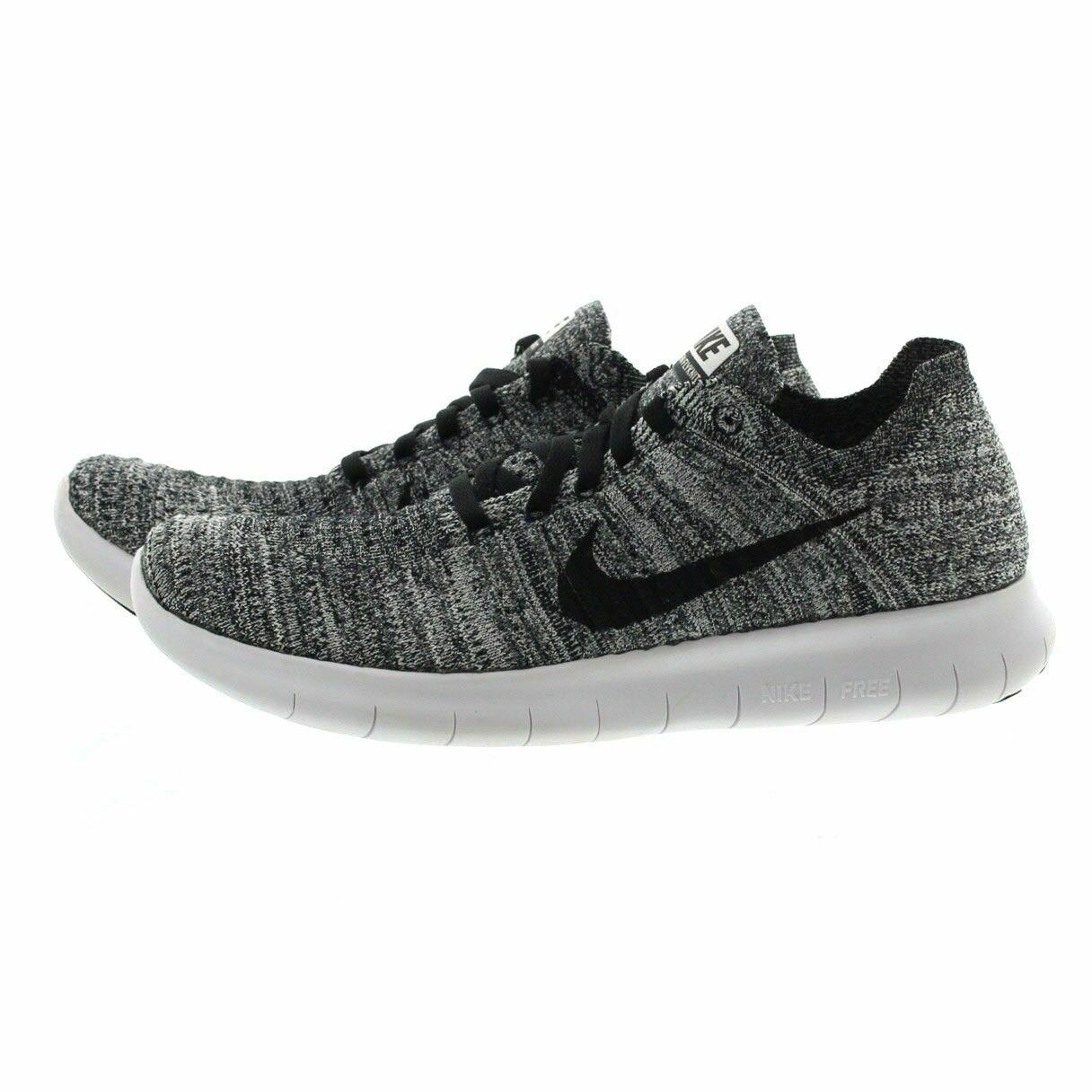 Nike RN Flyknit Mens Running shoes 11White Black 831069 100