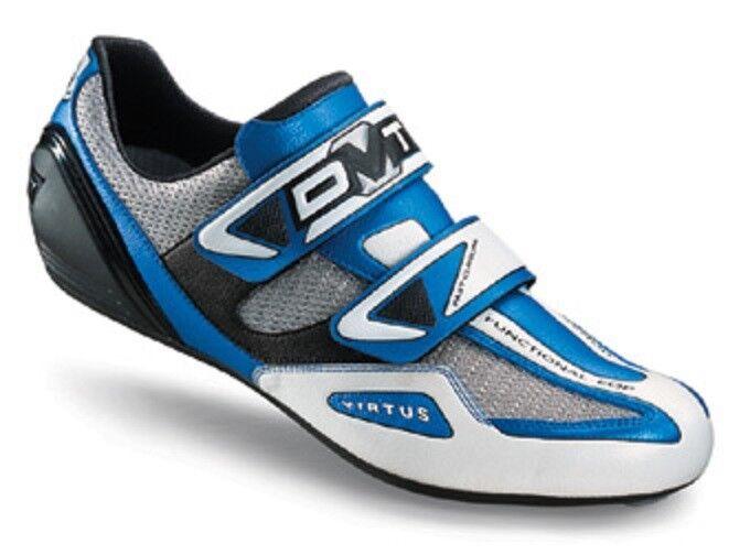 DMT Virtus Spitfire 04 Race zapatos, bike-zapatos blanco azul talla 42 diatex micro