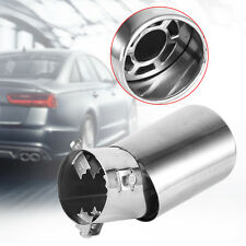Car Vehicle Exhaust Round Curved Stainless Steel Tail Pipe Muffler Tip Chrome DH