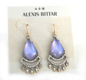 c963aa1f6 NWT $225 ALEXIS BITTAR LUCITE CRYSTAL LACE CHANDELIER DROP EARRINGS ...