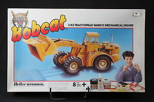 Yo044 Heller 1/43 Bobcat Rare Maquette 3505 Tractopelle Wabco Mechanical Digger