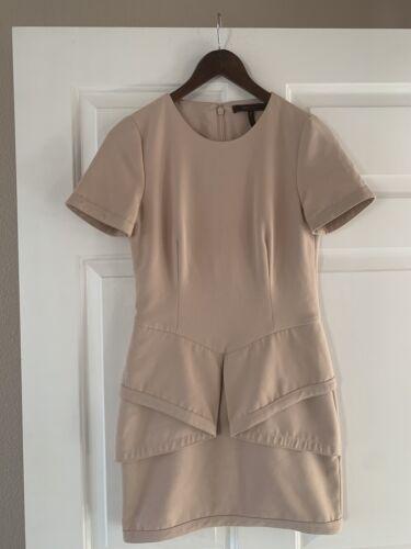 BCBG MAXAZRIA-Madalyn Draped-Peplum Shift Dress Si